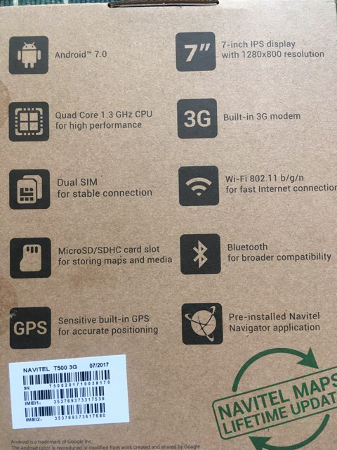 Tablet s Gps